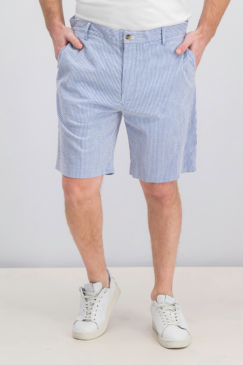 Men's Stretch Classic Fit Shorts, Blue/White