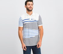 Ralph Lauren Mens Contrast Pique Polo, Patchwork
