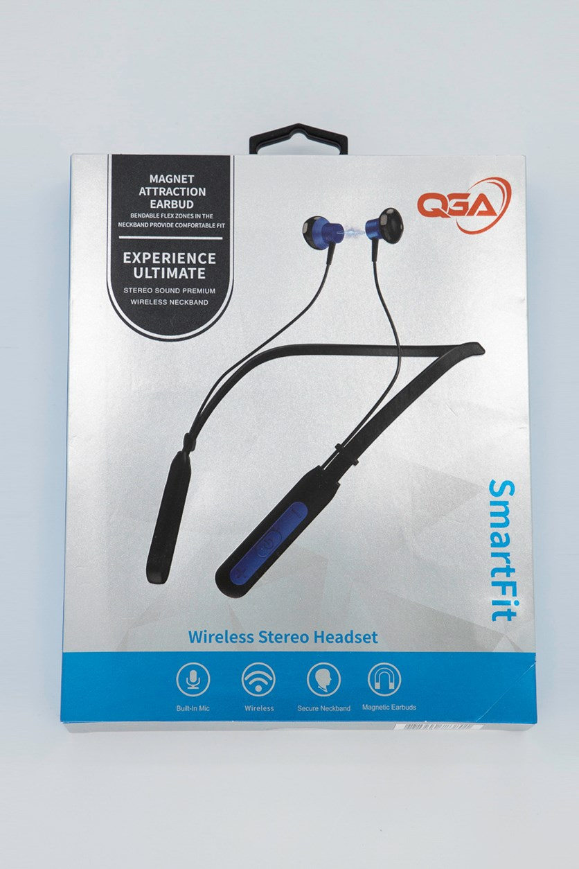 Wireless Stereo Headset, Blue