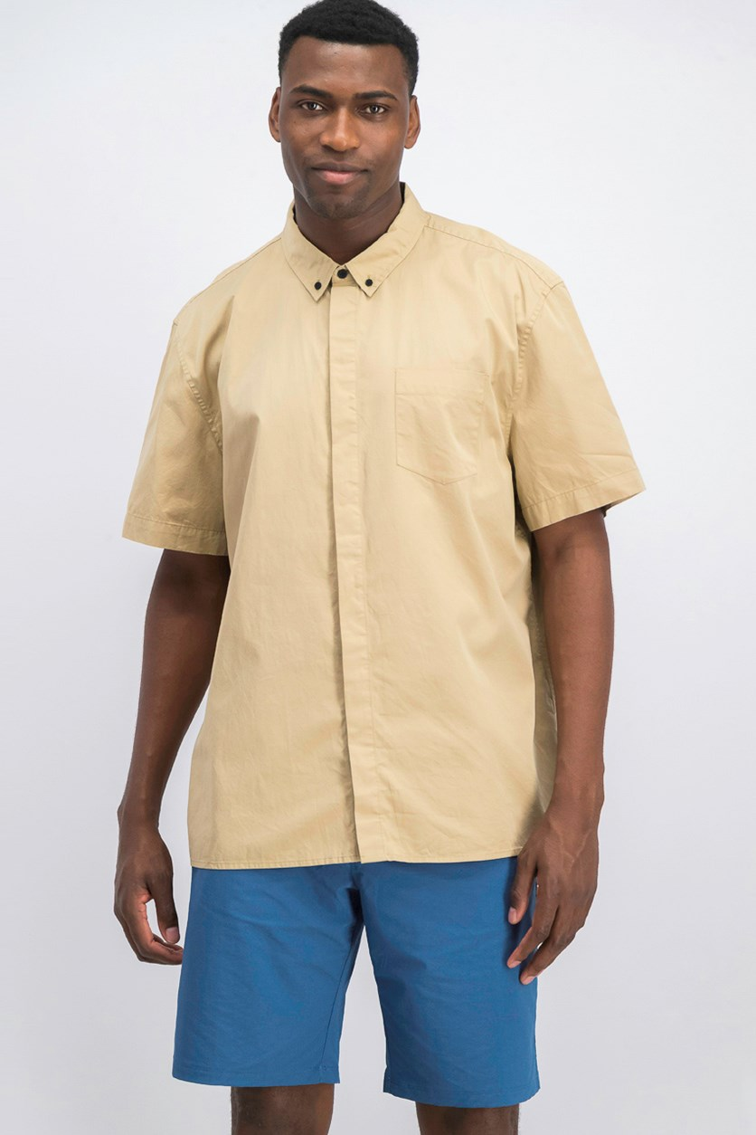 Men's Plain Shirt, Khaki