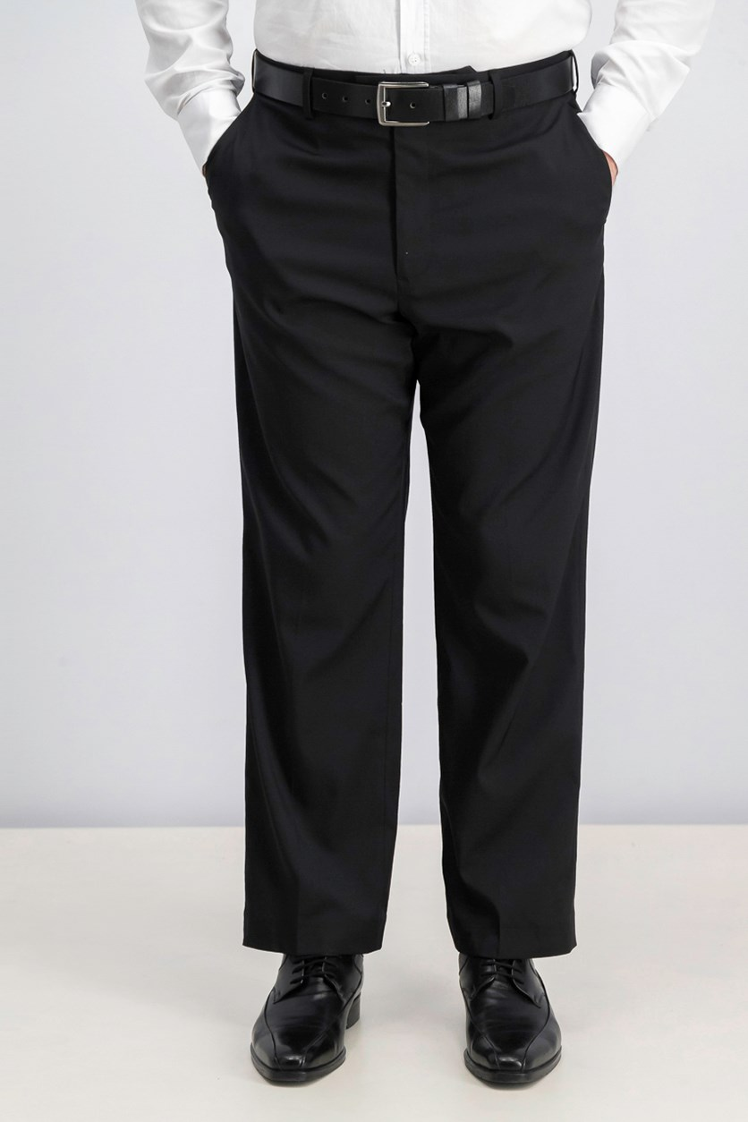 Men's Portfolio Classic Fit Stretch Crosshatch Dress Pants, Black