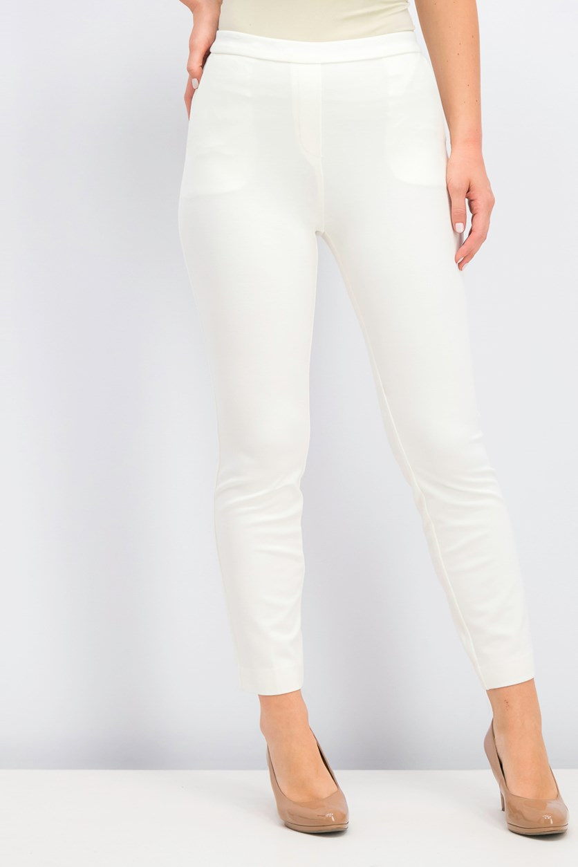 Womens Pull-On Pants, Ivory