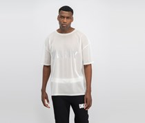 DKNY Men's Knitted See Through Tops, Ivory White