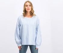 Dkny Women Embellished Top, Blue/White