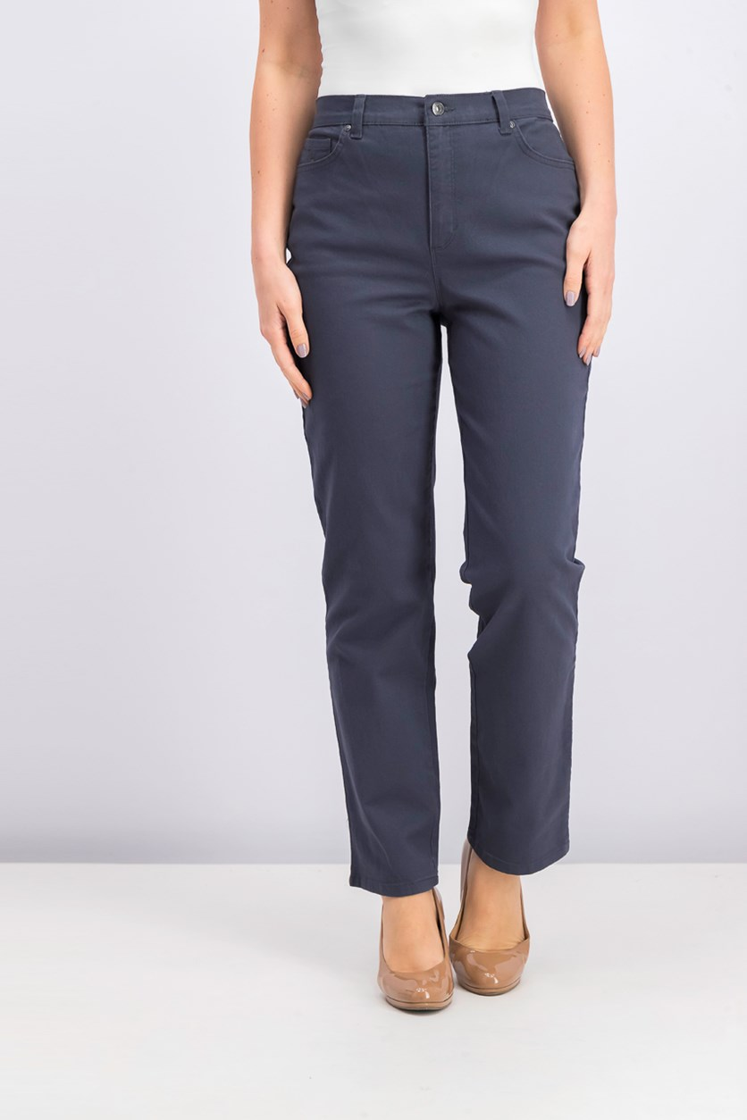 Amanda Classic-Fit Colored Denim Jeans, Grey Twilight