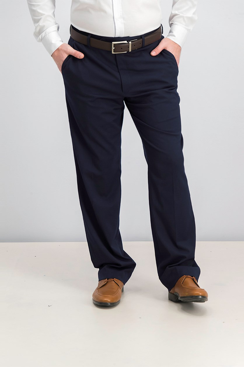 Men's Traveler Classic-Fit Pants, Navy Solid