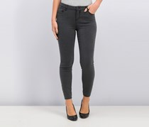 Juniors' Pin-Striped Skinny Ankle Jeans, Charcoal