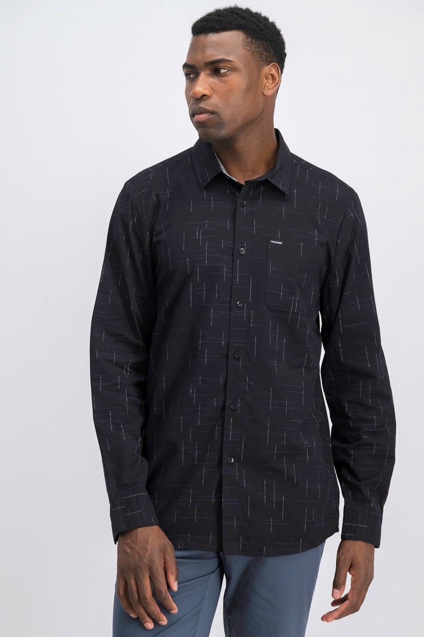 Men's Quency Dots Shirt, Black