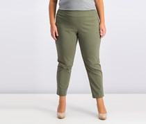 Jm Collection Plus & Petite Plus Size Tummy Control Slim-Leg Pants, Olive