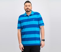 Nautica Men's Striped Polo Classic-Fit Shirt, Blue