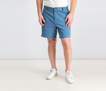 Cotton Twill Flat Front Stretch Chino Short, Tide Blue