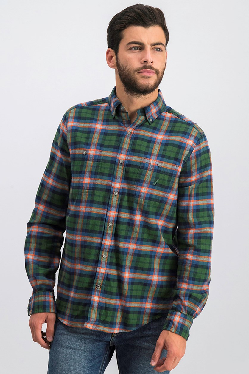 Men's Classic Fit Plaid Flannel Shirt, Pacific Pine