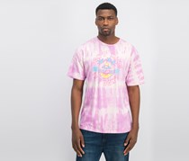 Neff Mens Don't Mind Washed T-Shirt, Pink/Purple