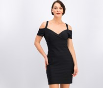 Guess Women Short Sleeve Sheath Dress, Black