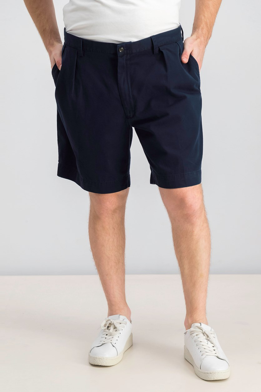 Men's Classic-Fit Pleated Chino Short, Navy