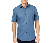 Club Room Men's Pineapple-Print Shirt, Navy Blue