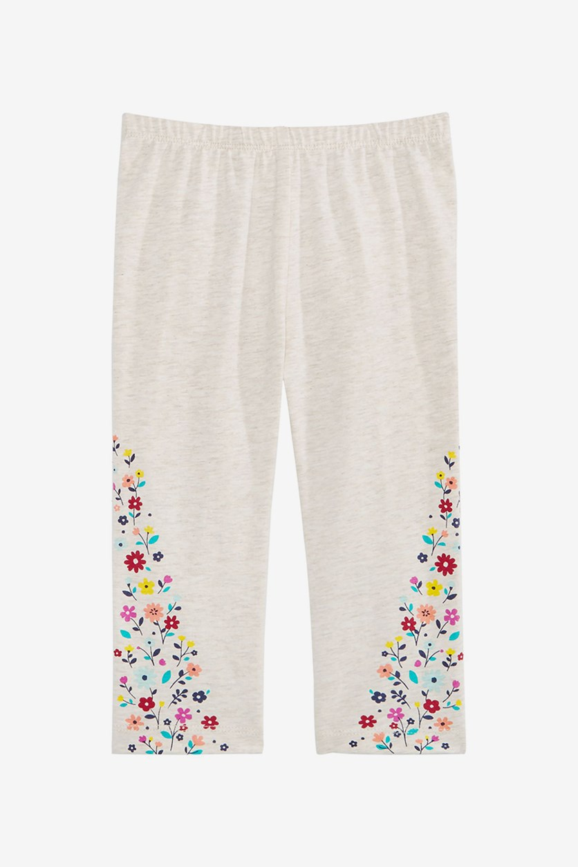 Baby Girls Floral-Print Leggings, Heather Dune