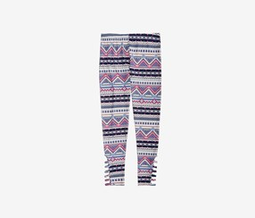 Epic Threads Geo-Print Leggings, Blue Ash Stone