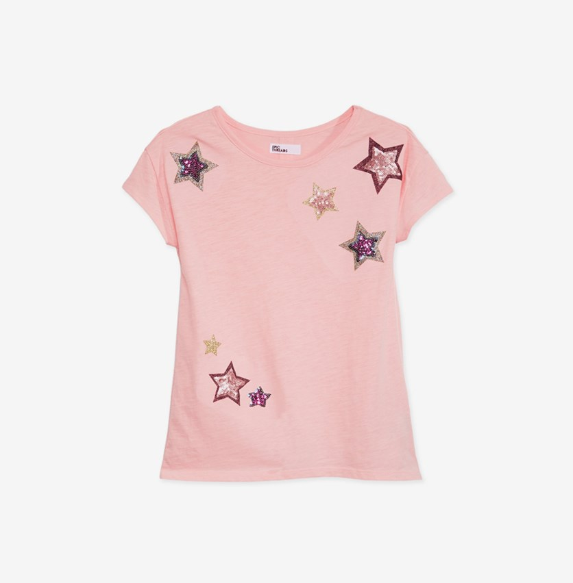 Big Girls Mesh-Back T-Shirt, Blush