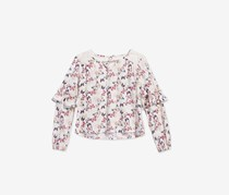Epic Threads Big Girls Butterfly-Print Top, Ivory