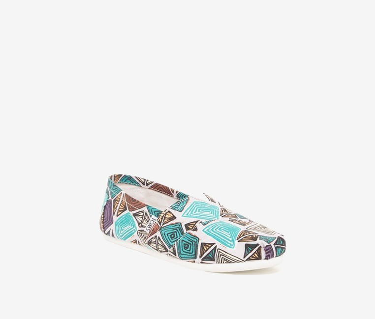 Classic Print Abstract Slip-On, Combo