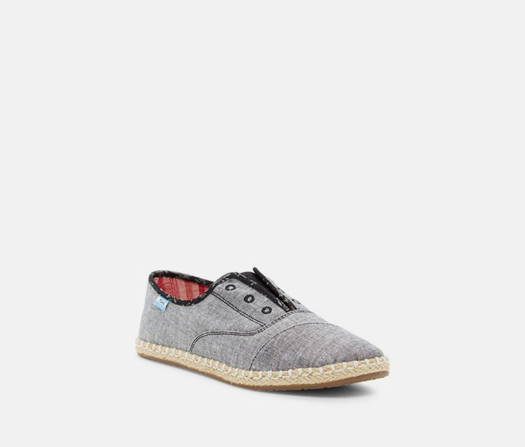 Women's Chambray Dot Slip-On Sneaker, Grey