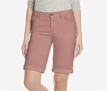 Buffalo David Bitton Womens Cuffed Bermuda Shorts, Rose