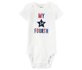 Carter's Baby My 1st Fourth Bodysuit, White