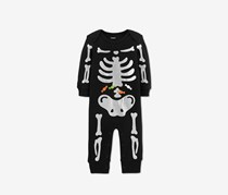 Toddlers Sleep & Play Halloween Skeleton, Black