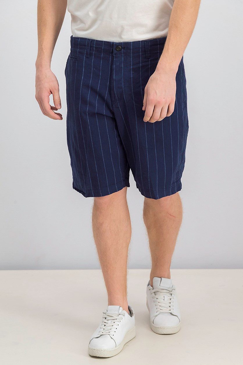 Men Striped Short, Navy