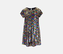 Beautees Big Girl's Reversible Sequin Swing Dress, Navy Combo