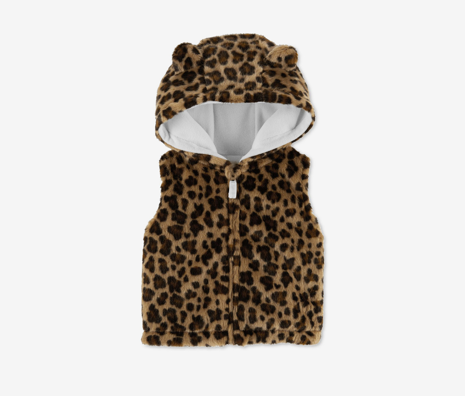 Carter's Baby Girls Faux-Fur Animal-Print Vest, Brown Combo