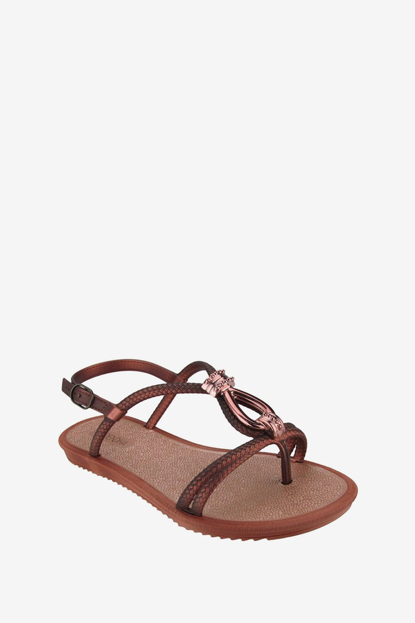 Free Ground Female Sandals, Brown