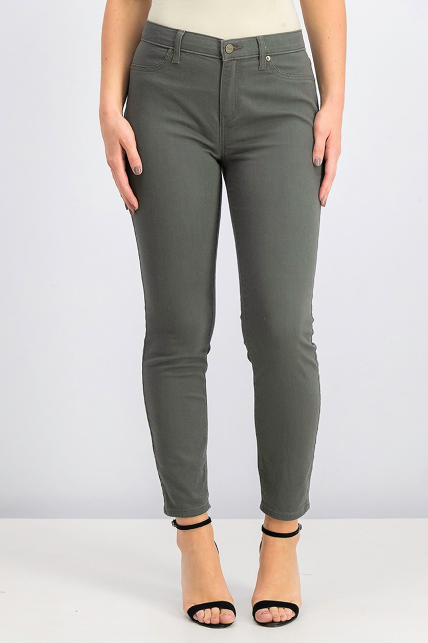 Women's Colored Jeans, Moss