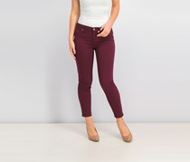 Women's Colored Skinny Jeans, Burgundy
