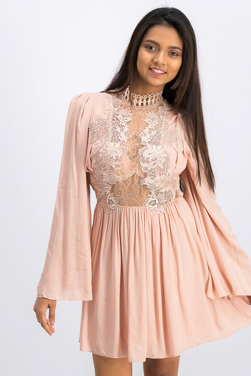 Women's Divine Mini Dress, Blush