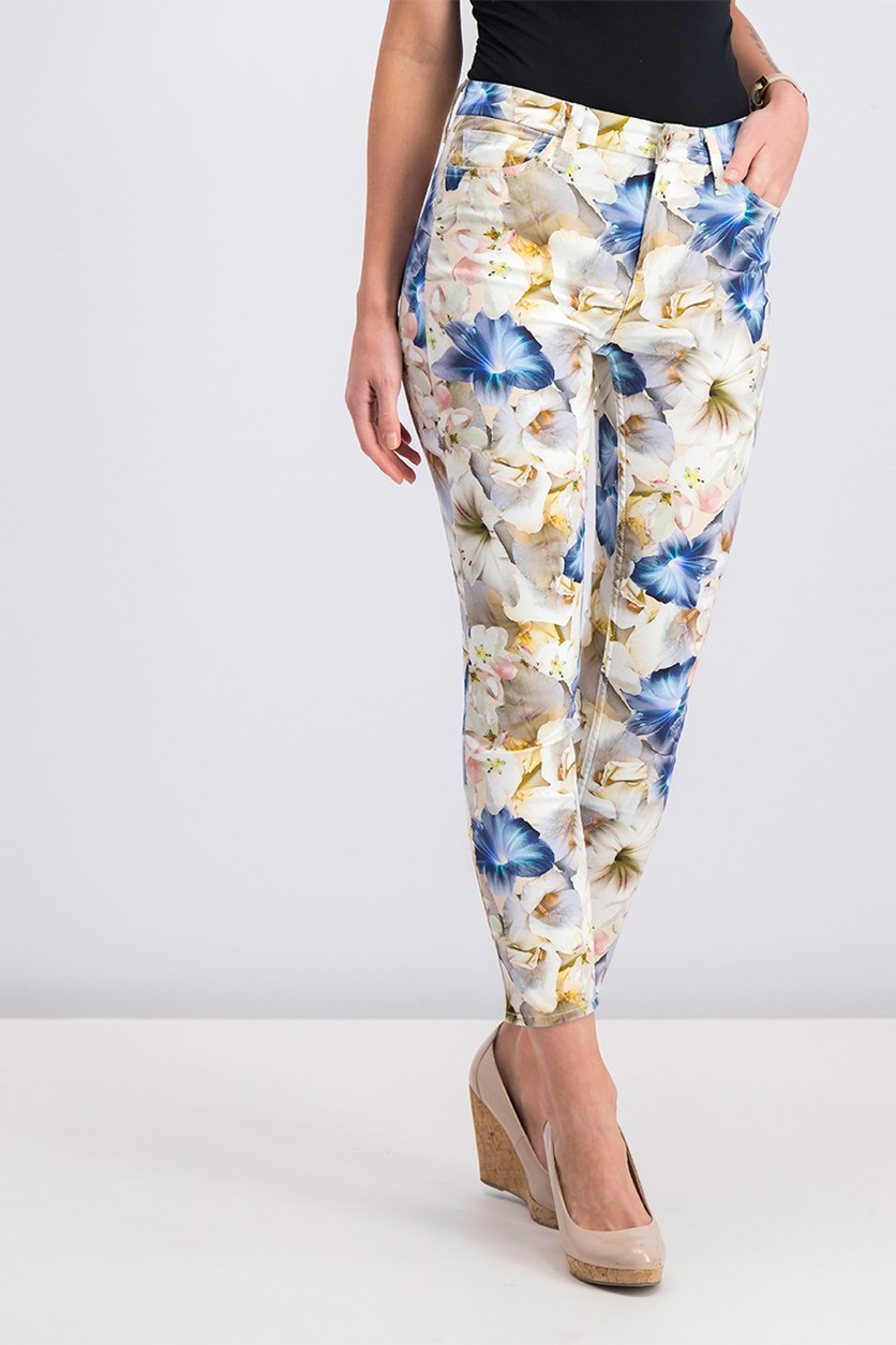 Lily Floral Ankle Pants, Looming Lily