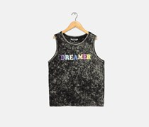 Butter Super Soft Girl's Dreamer Tank, Black