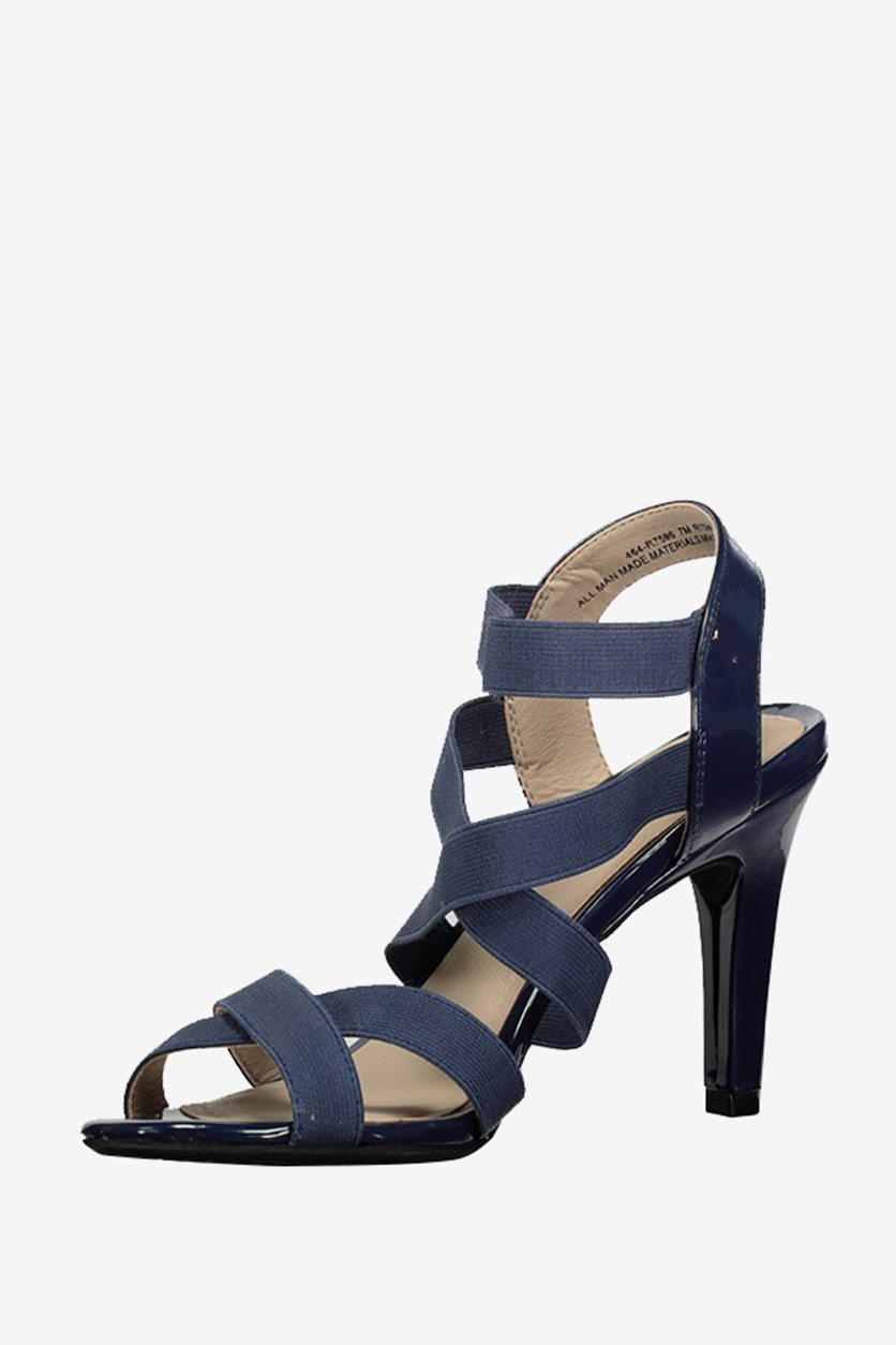 Roselle Strappy Dress Sandals, Navy