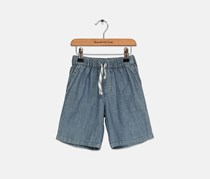 Carter's Todlers Boy's Woven Cotton Chambray Shorts, Wash Blue