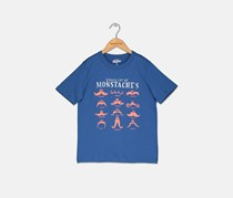 OshKosh Originals Mustache Graphic Tee, Blue