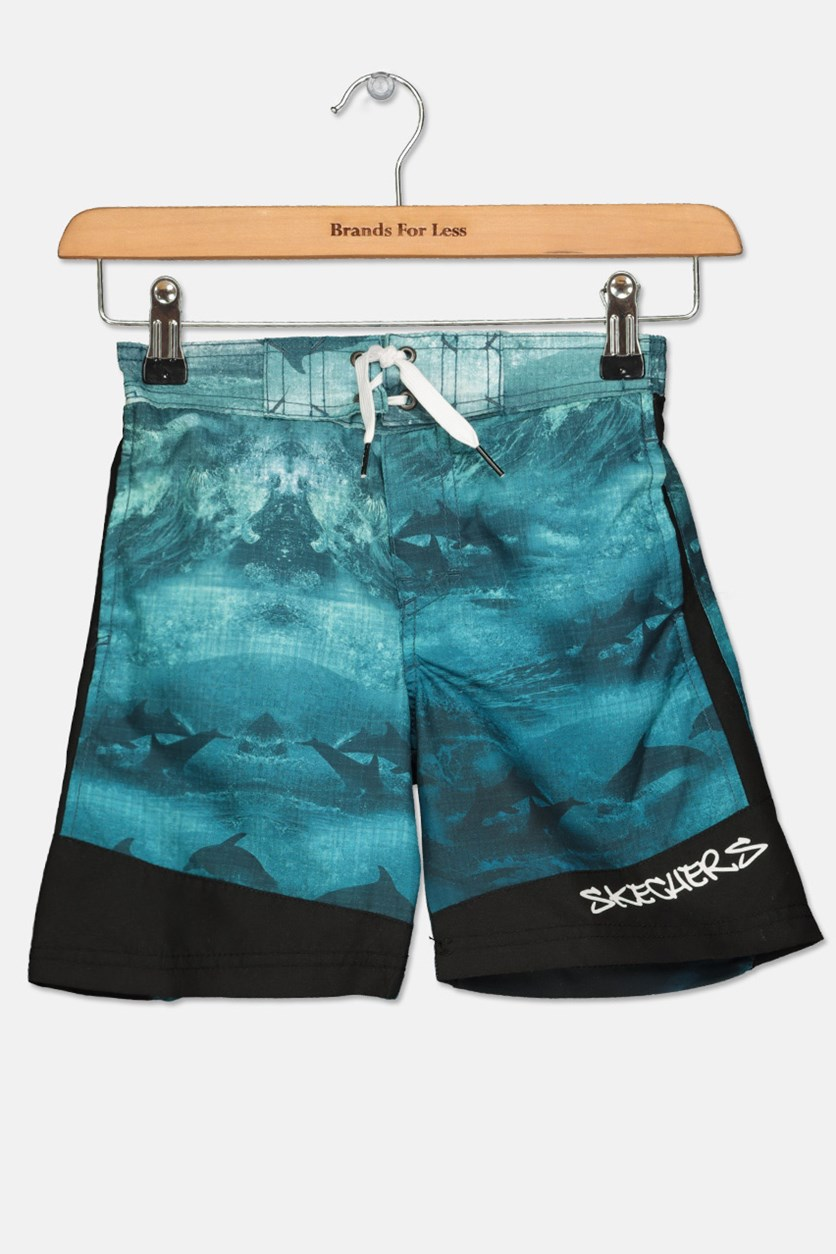 Kids Boy's Board Short, Teal