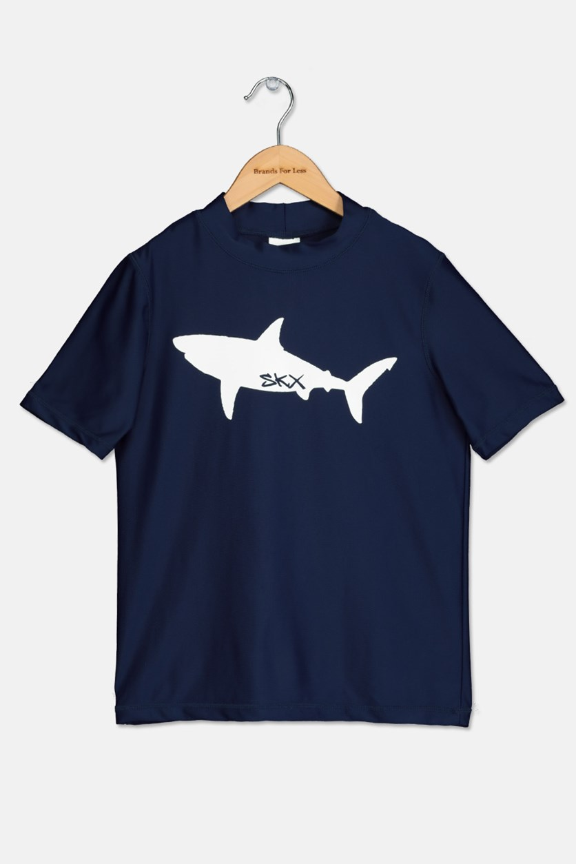 Boy's Rash Guard Top, Navy