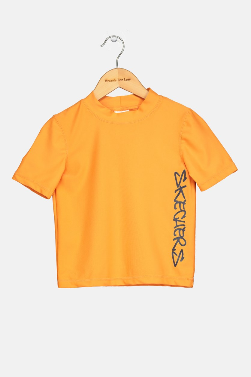 Kids Boy's Rash Guard, Orange