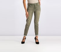 Celebrity Pink Body Sculpt ' Colored Distressed Skinny Jeans, Sunday Olive
