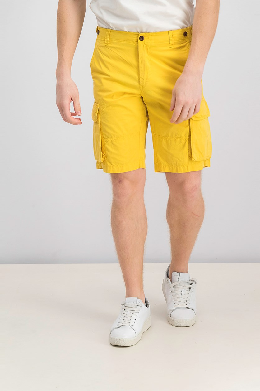 Men Cargo Short, Yellow