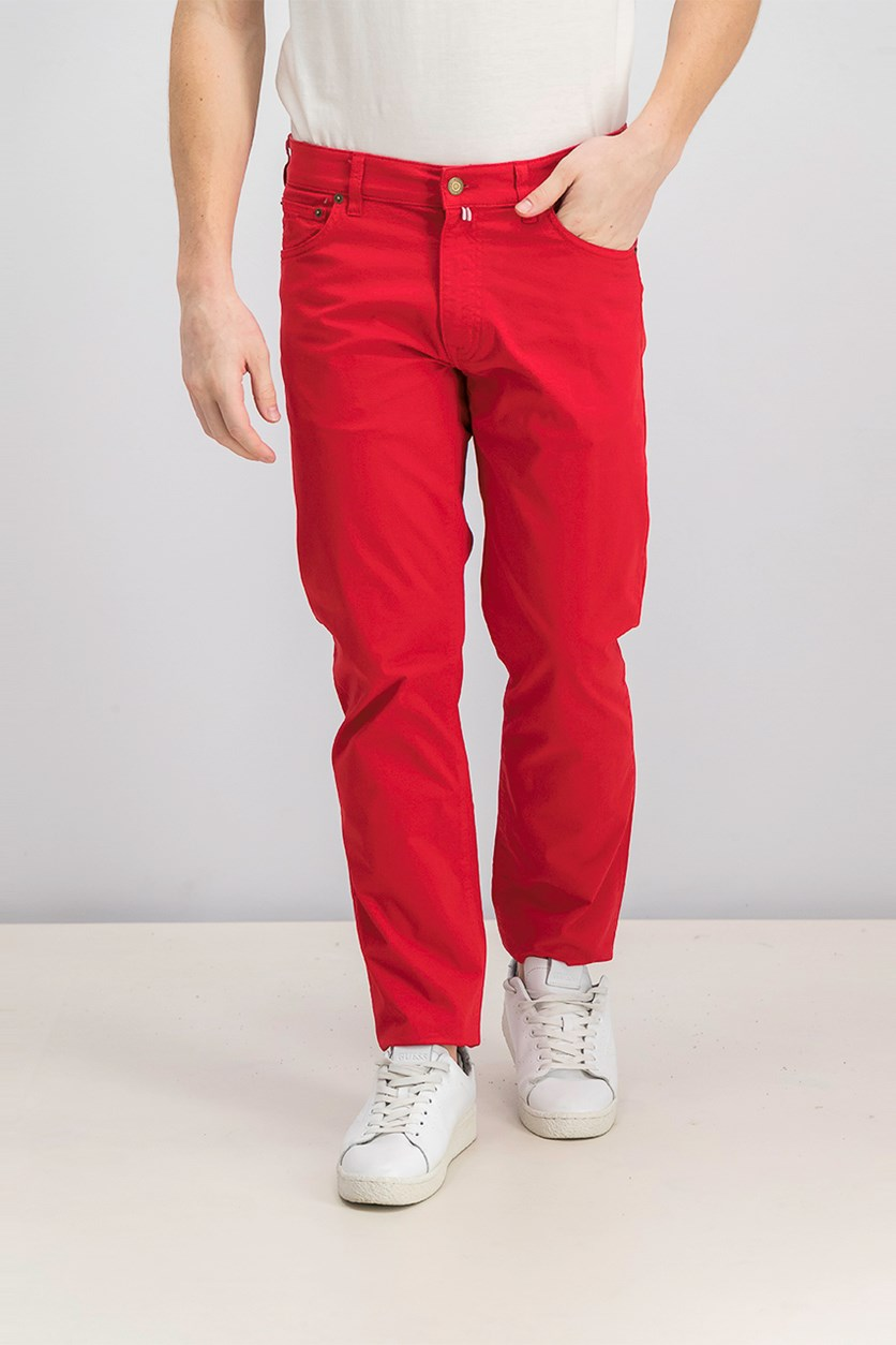 Men Five Pocket Pants, Red