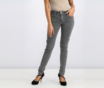 Women's Skinny Fit Jeans, Charcoal