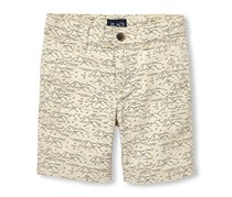 The Children's Place Boys' Big Print Shorts, Off White