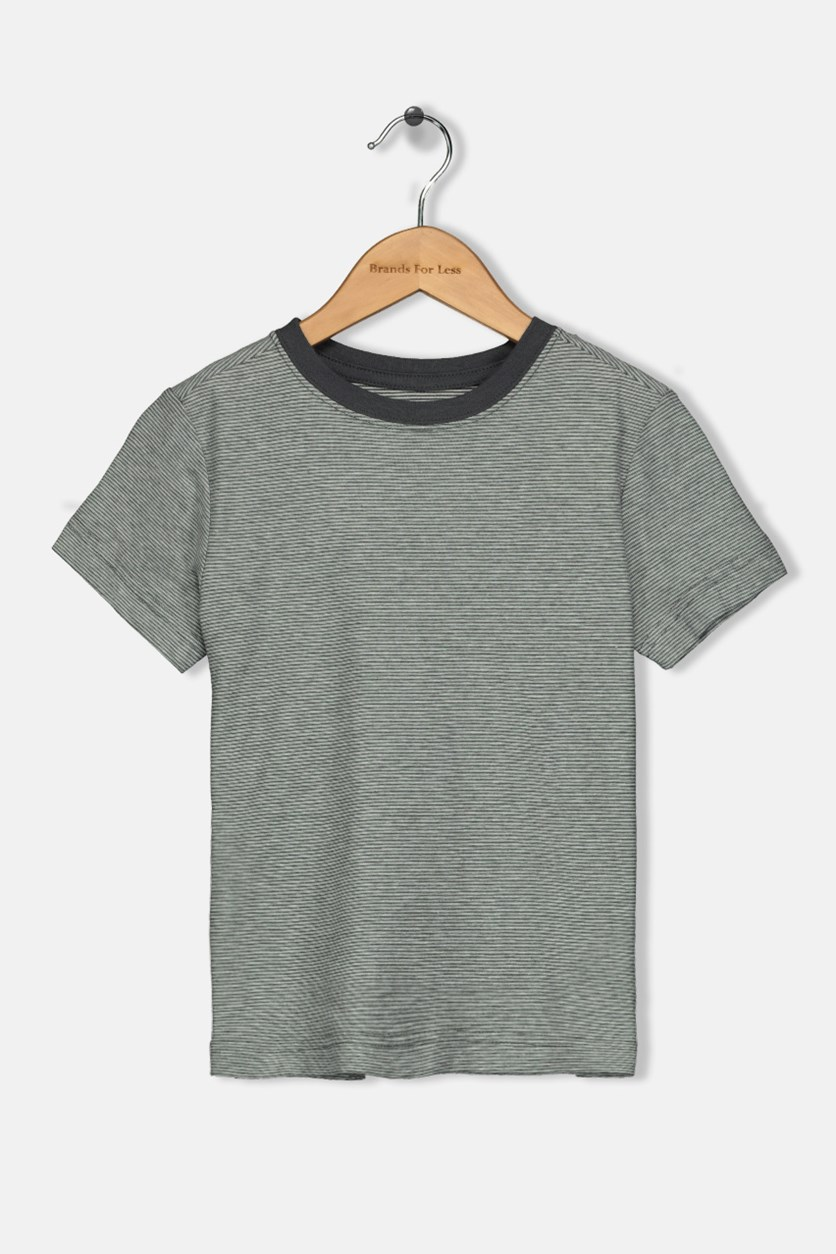 Toddler Boys Micro-stripe Tee, Grey